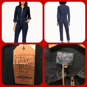 Lucky Brand New jean Jumpsuit size 27
